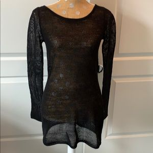 Express black netted long top. S